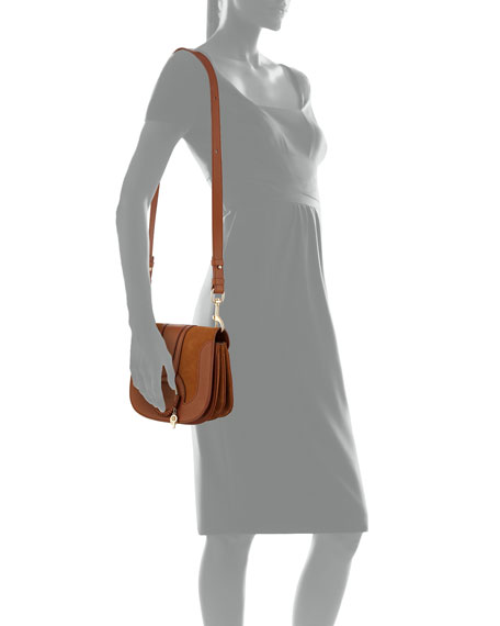 Hana Leather/Suede Shoulder Bag