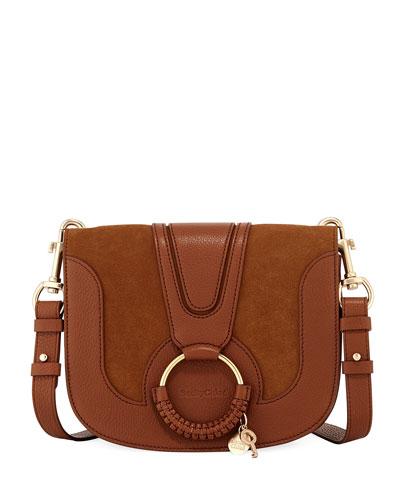 Hana Leather/Suede Shoulder Bag