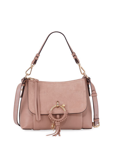 Joan Small Mixed Leather Crossbody Bag