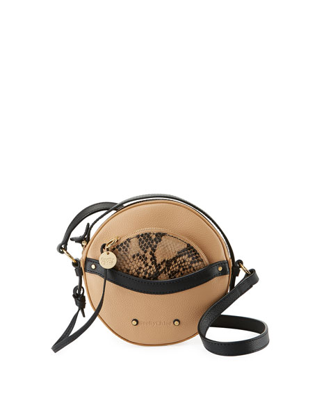 See by Chloe Rosy Mini Round Saddle Shoulder