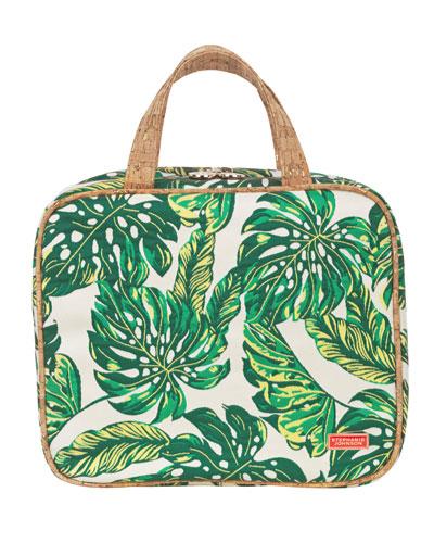 Seychelles Green Martha Large Briefcase Cosmetics Bag