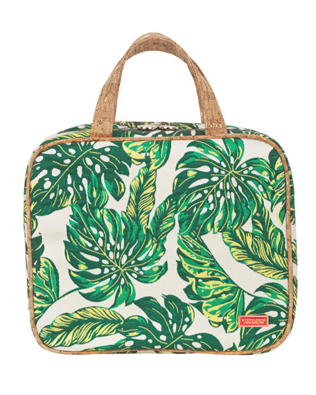 Seychelles Green Martha Large Briefcase Cosmetics Bag