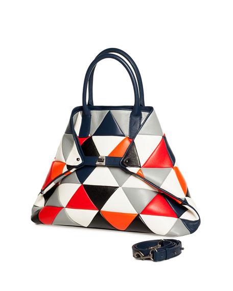 Ai Medium Multicolor Quilted Shoulder Bag