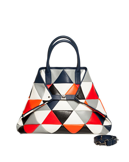 Akris Ai Medium Multicolor Quilted Shoulder Bag