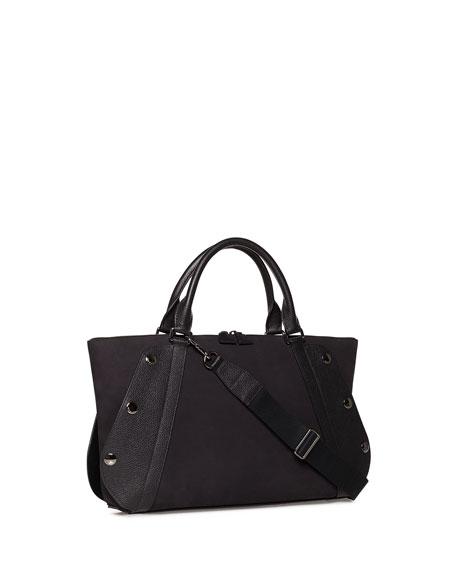Aimee Small Nubuck Leather Satchel Bag