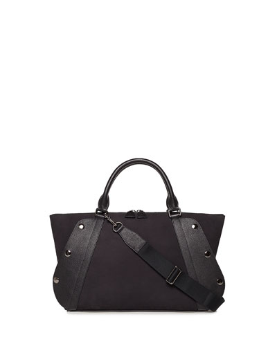 Aimee Small Nubuck Leather Satchel Bag