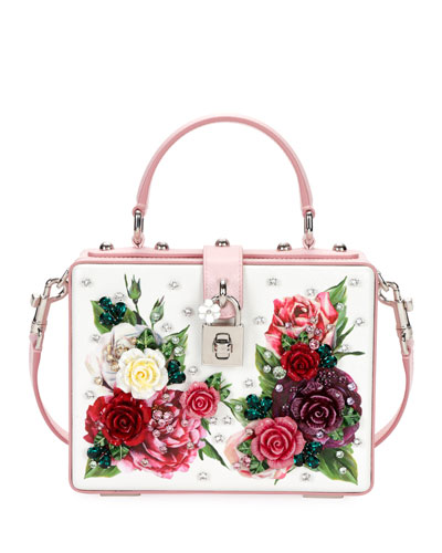 Dolce Box Floral-Print Top Handle Bag