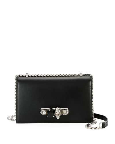 Jeweled Satchel, Black
