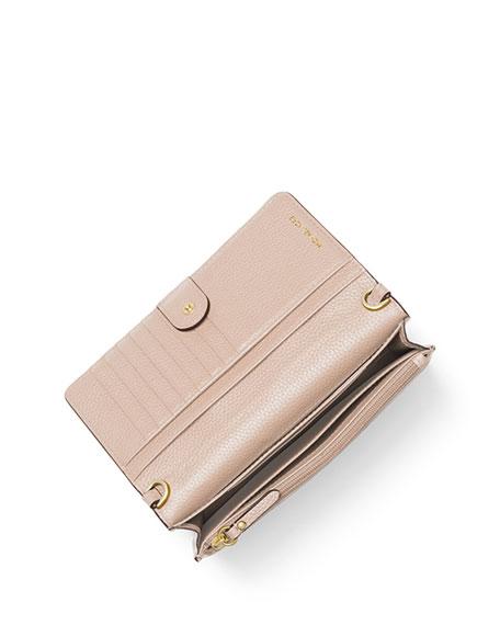 Leather Phone Crossbody Wallet