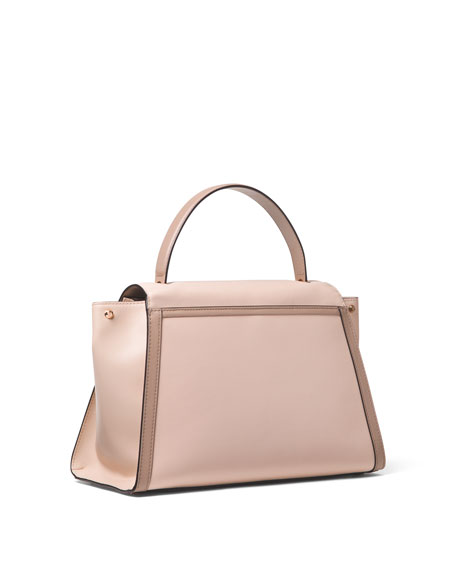 Whitney Large Leather Top-Handle Satchel Bag