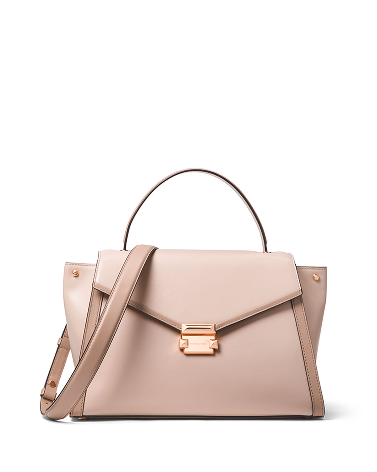 e2faff1229dd Whitney Large Leather Top-Handle Satchel Bag. MICHAEL Michael Kors Whitney  Large Top-Handle ...