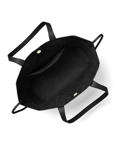 Junie Large Leather Shoulder Tote Bag