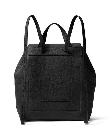 Junie Medium Leather Flap Backpack