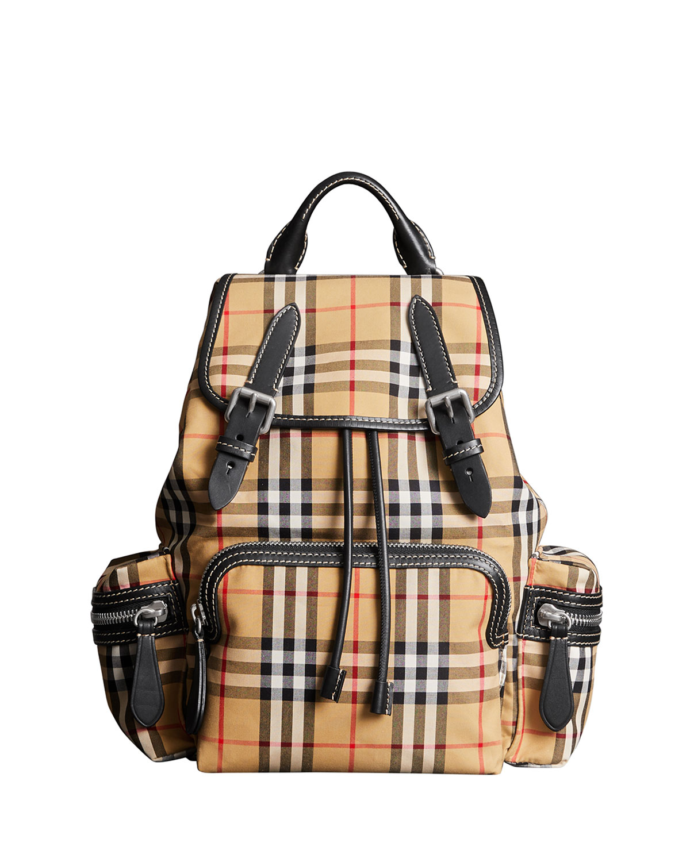 Burberry Vintage Medium Check Sailing Canvas Rucksack Backpack ... 593638ef81e56