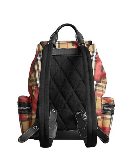 Graffiti-Print Medium Rucksack Backpack