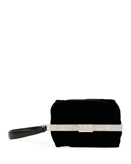 Embellished Velvet Evening Pouch Bag