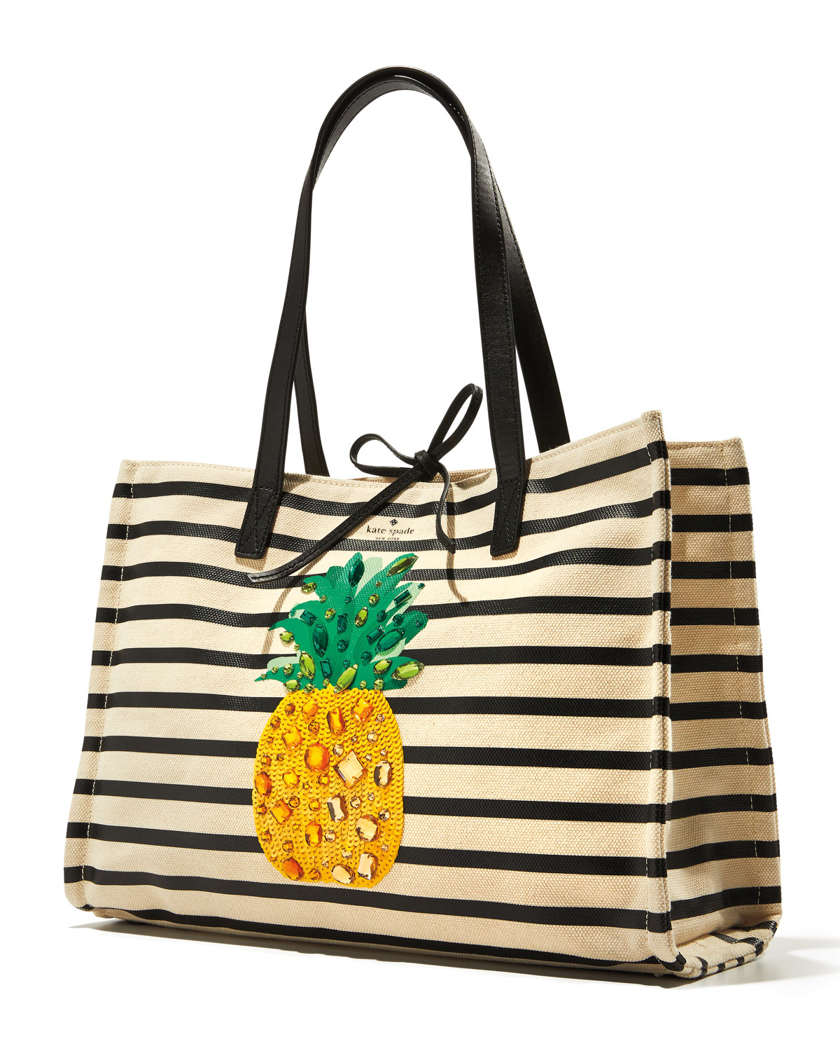 848a8d545 kate spade new york by the pool canvas pineapple tote bag | Neiman Marcus