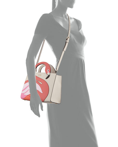 by the pool flamingo sam satchel bag