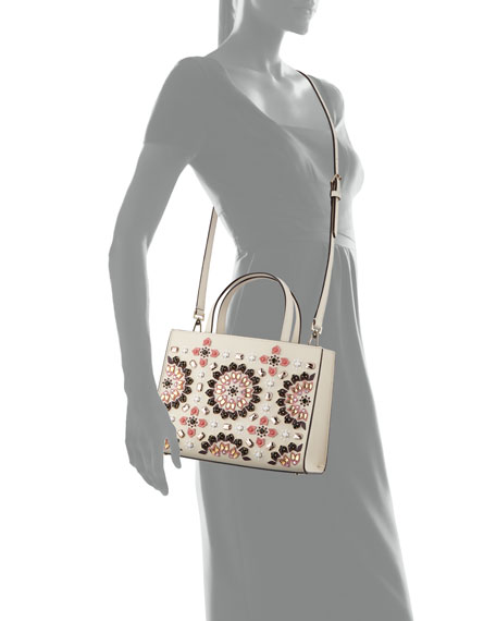 thompson street sam embellished satchel bag