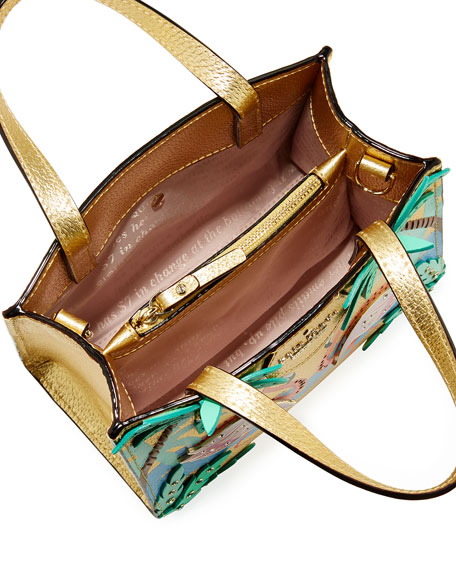 by the pool flamingo scene small sam satchel bag