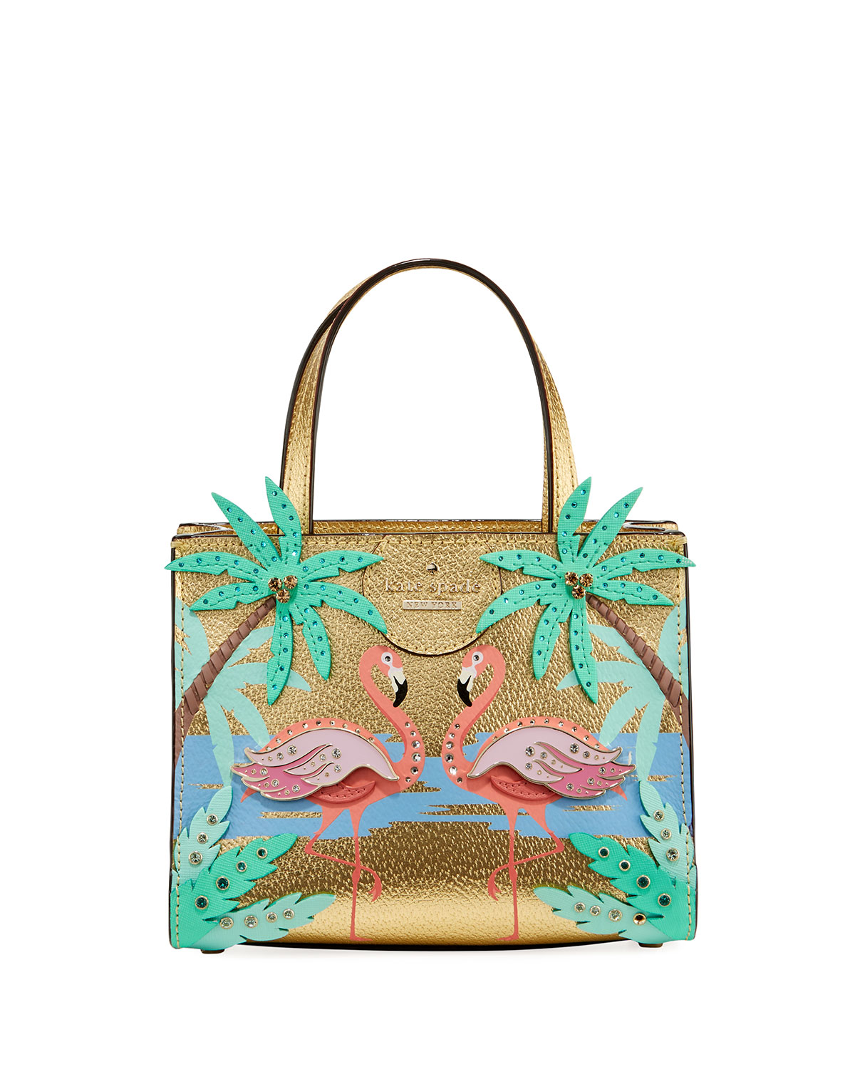 42f2e2e4540e kate spade new york by the pool flamingo scene small sam satchel bag ...