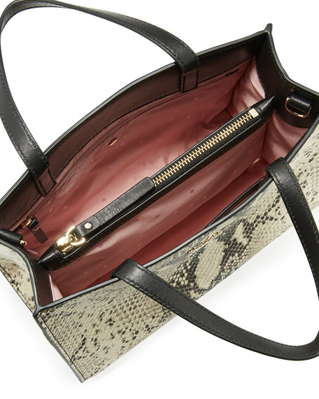 emerson sam snake-embossed shoulder bag