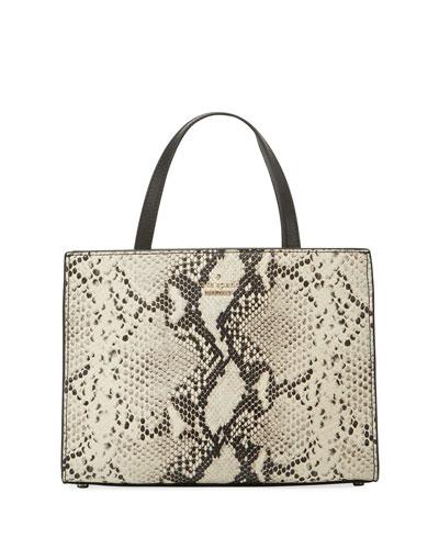 emerson sam snake-embossed shoulder bag