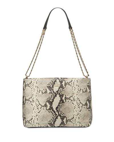 emerson lorie snake-print shoulder bag