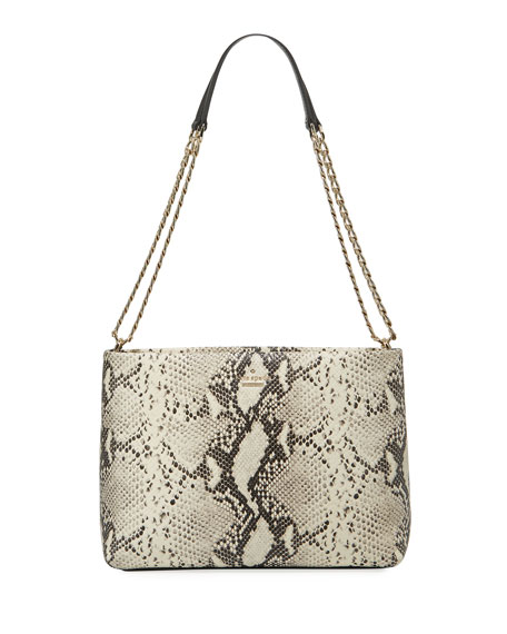 emerson lorie snake-print shoulder bag