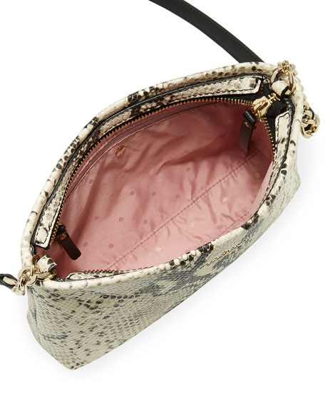 emerson caterina snake-print shoulder bag