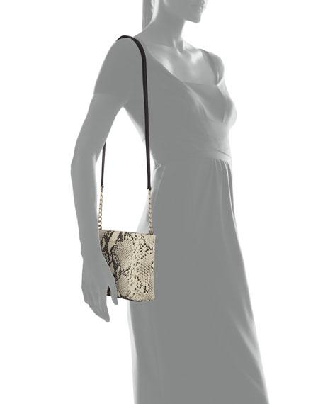 emerson caterina snake-print shoulder bag