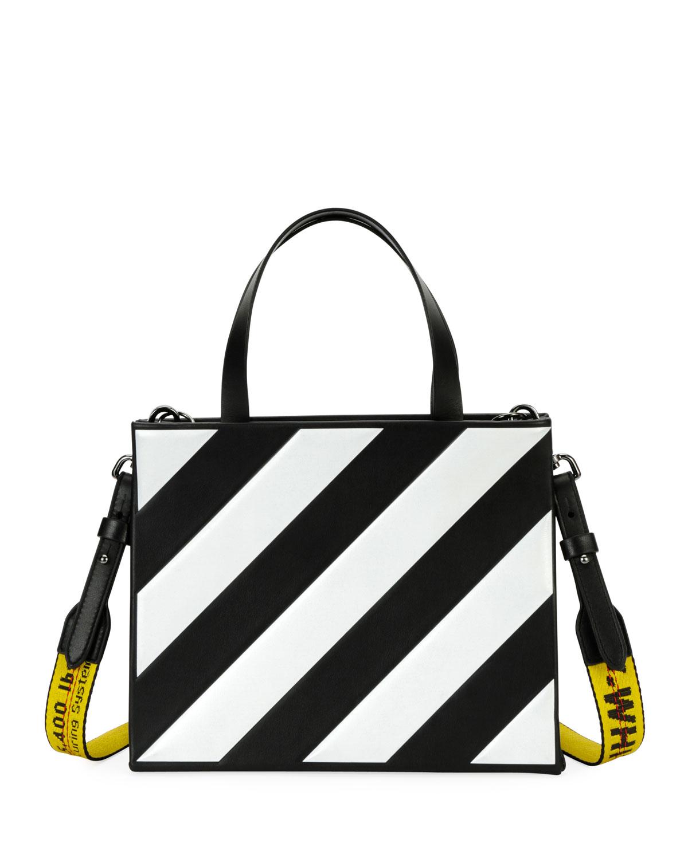 Off White Small Diagonal Stripe Box Tote Bag Neiman Marcus