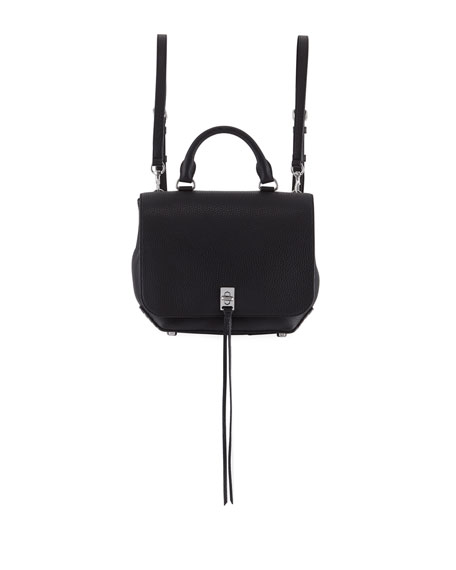Rebecca Minkoff Darren Medium Convertible Leather Backpack, Black