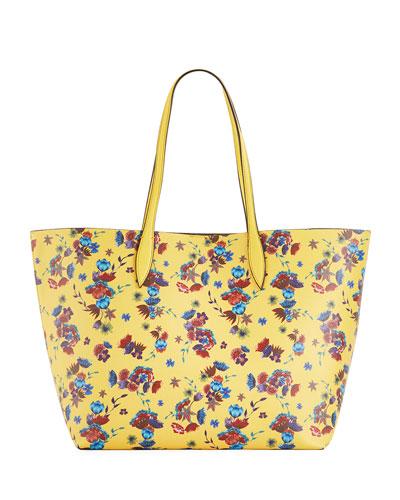 Heather Large Floral-Print Shoulder Tote Bag