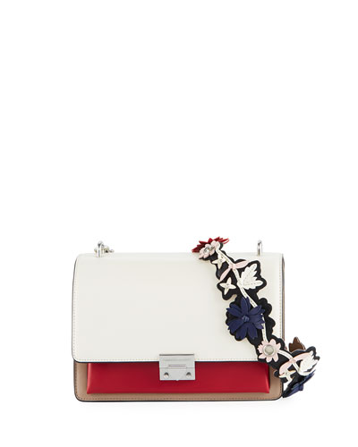 Christy Medium Shoulder Bag with Flower Strap