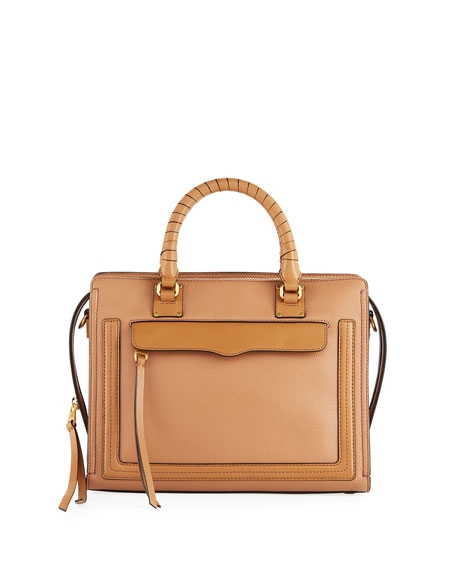 Rebecca Minkoff Bree Medium Top-Zip Satchel Bag