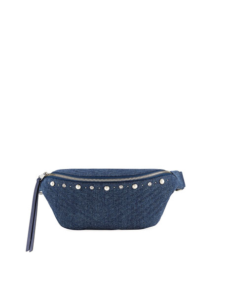 Rebecca Minkoff Bree Denim Pearly Belt Bag
