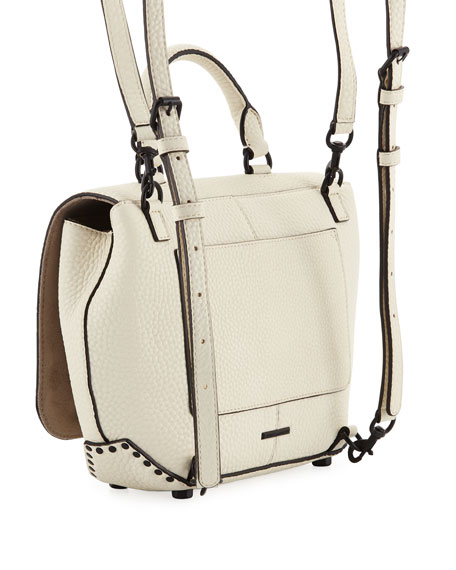 Darren Medium Convertible Leather Backpack, Antique White