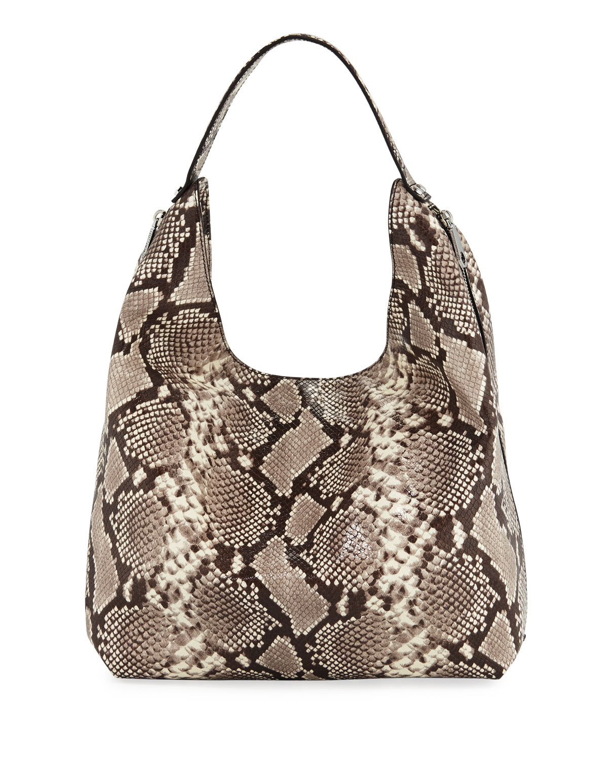 Rebecca MinkoffBryn Snake-Print Denim Hobo Bag