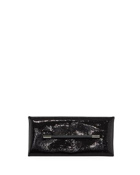 Ava Sequins Clutch Bag in Black