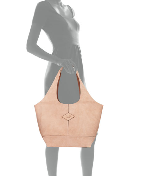 Camden Suede Shopper Hobo Bag