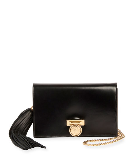 Leather Pochette Mini Clutch Bag