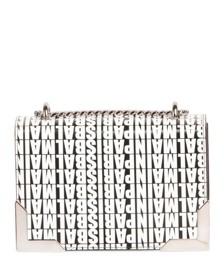Box 20 Logo Crossbody Bag, Black/White