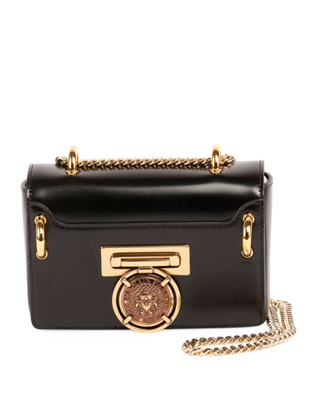 Balmain Baby Box Leather Crossbody Bag