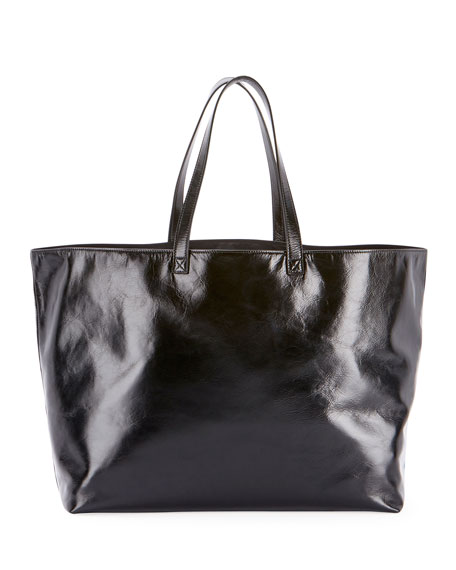 Cabas Cuir Shopping Tote Bag