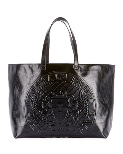 Cabas Cuir Shopping Tote Bag