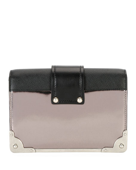 Cahier Small Metallic Crossbody Bag