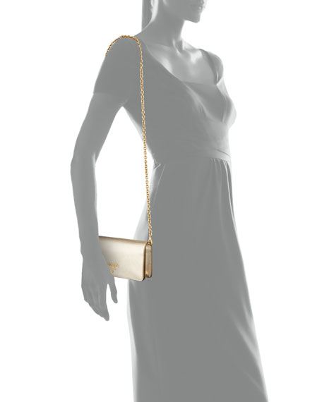 Saffiano Mini Bag, Gold