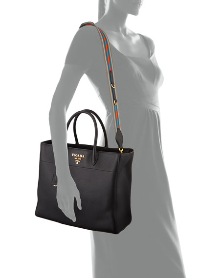 Large Daino Leather Tote Bag