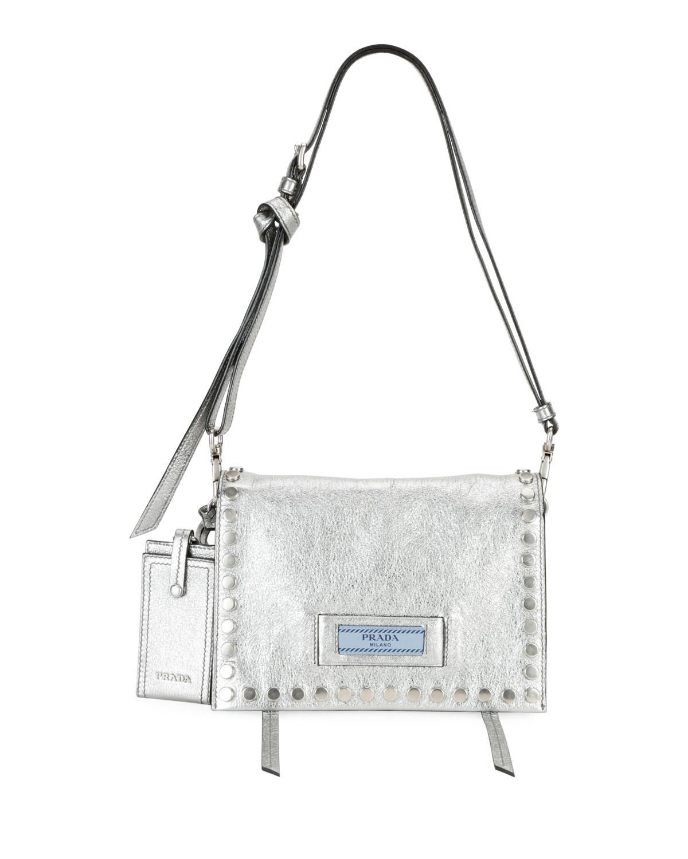 Prada Mini Studded Glace Calf Etiquette Shoulder Bag  9f79e0e3745ba